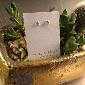 NIP Phyllis + Rosie V Bar Earrings Free People